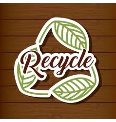 Recycle emblem design vector