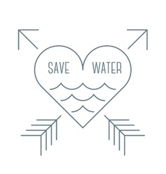 Save water symbol vector