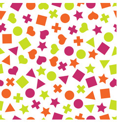 seamless primitive geometric pattern vector image