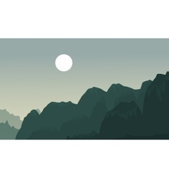 Silhouette of cliff landscape backgrounds vector