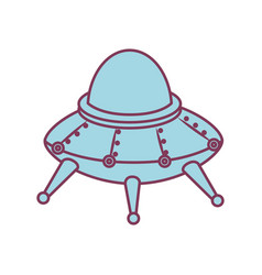 Space ship kids toy isolated icon vector
