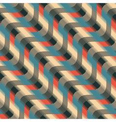 wavy striped ornament vector image