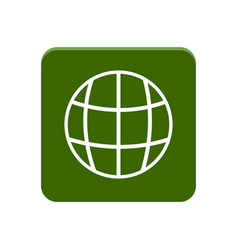web app button vector image
