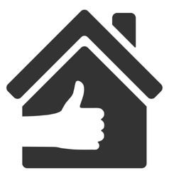 Excellent house flat icon vector