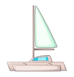 Small boat icon cartoon style vector image