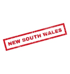 New south wales rubber stamp vector