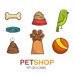 Pet shop elements set vector