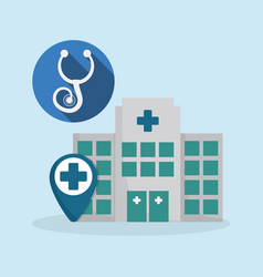 Hospital medical service icon vector