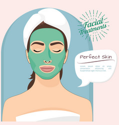 perfect skin beautiful woman vector image