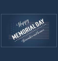 Collection banner memorial day theme vector