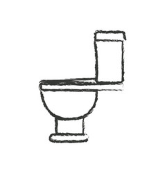 Monochrome blurred silhouette with toilet icon vector