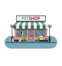 Veterinary medicine hospital clinic or pet shop vector