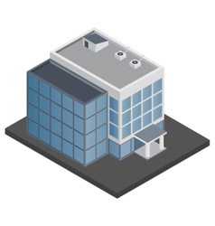 Office building isometric vector
