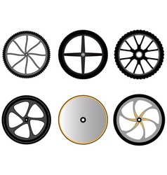 Bicycle wheels without spokes vector