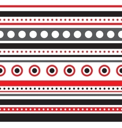 Horizontal stripes and circles seamless vector