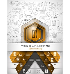 Infographic abstract template with multiple vector