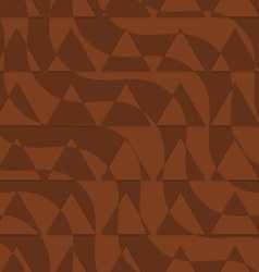 Retro 3d brown waves with cut out triangles vector