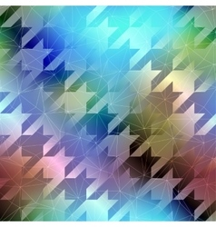 Houndstooth pattern on abstract blurred background vector