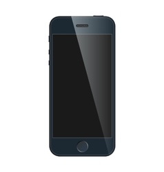 Realistic black mobile iphone with blank screen vector