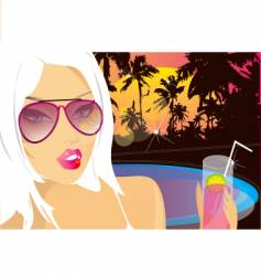 summer nights chill vector image