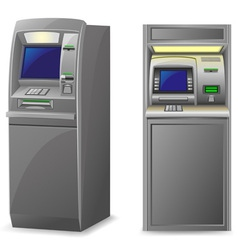 atm isolated on white background vector image