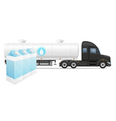 Semi truck trailer concept 06 vector