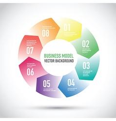 business model set vector image