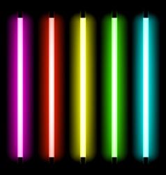 Neon tube light vector
