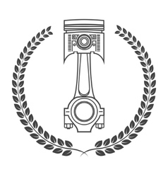 Iron car piston in the form of awards vector