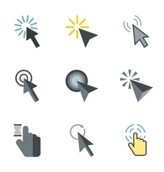 Arrow icons set flat style vector image vector image