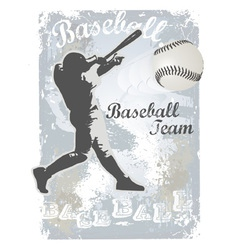 base ball grunge 4 vector image