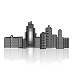 Black silhouette of city vector image vector image