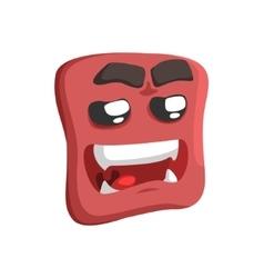 Brown sweet talking emoji cartoon square funny vector