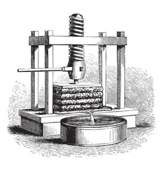 Cider Press vintage engraving vector image