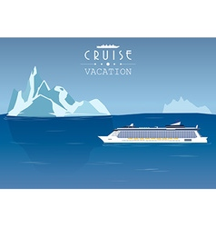 Cruise ship vector image vector image