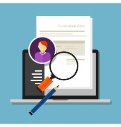 Curriculum vitae cv resume employee recruitment vector