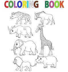 Dinosaur coloring book vector image