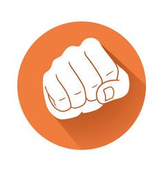 fist symbol vector image vector image