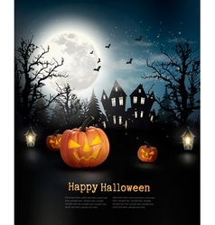 Halloween spooky background vector image vector image