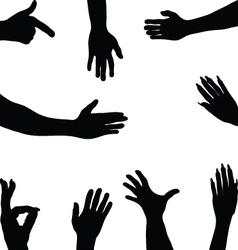 hands 2 vector image vector image