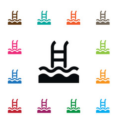 Isolated swimming pool icon basin element vector