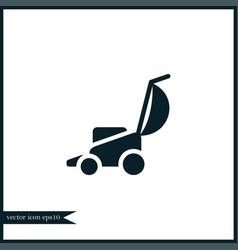 Lawnmower icon simple vector