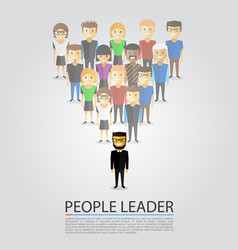 leader stands in front of a crowd vector image vector image