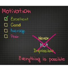 Motivation everything is possible vector