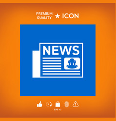 Newspapers icon vector