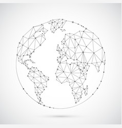 Polygonal world globe vector