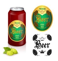 Premium beer label design vector