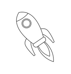 Rocket startup business creativity innovation vector