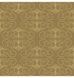 Seamless calligraphical pattern vector image vector image