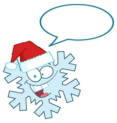 Snowflake cartoon vector image vector image